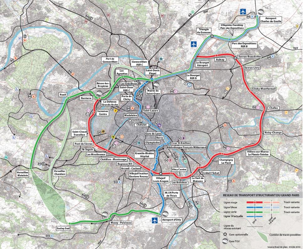 Projet Grand Paris: Boucle de transport